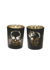 Skull T-Light Holder Set